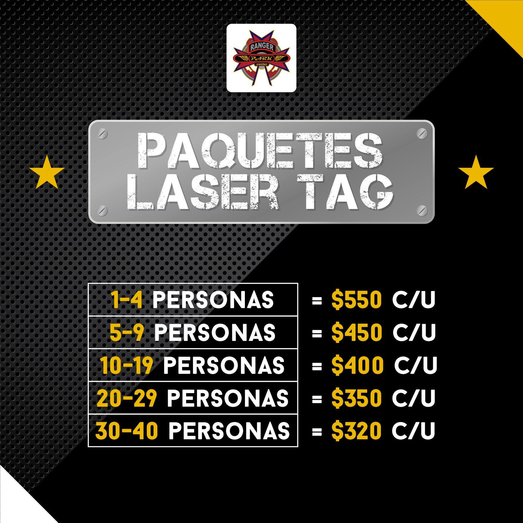 Anímate a vivir la experiencia #LaserTag con los paquetes que tenemos para ti.